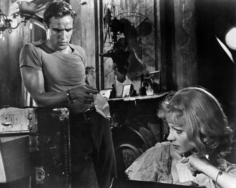 "Marlon Brando and Vivien Leigh in ""A Streetcar Named Desire"""