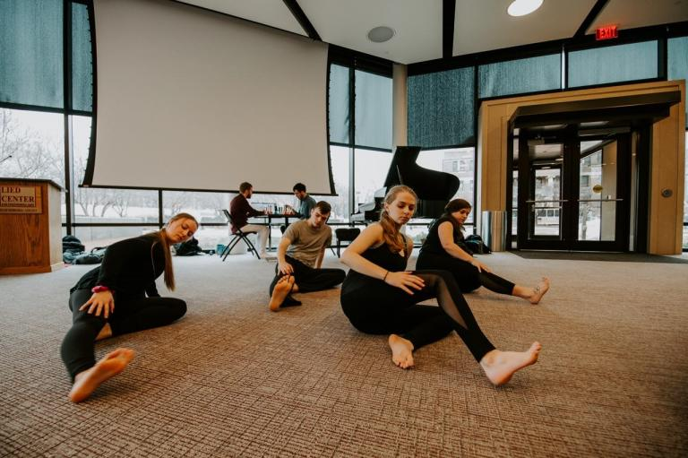 UNL Dancers perform at last year's Arts Advocacy Day. This year's event is March 6 at the Johnny Carson Center for Emerging Media Arts. Photo by Justin Mohling.