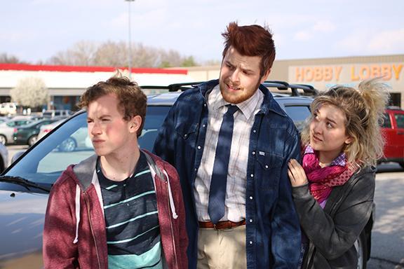 Left to right:   Jackson Belva, Clayton Shellgren and Ciara Hergott. Photo by Doug Smith.