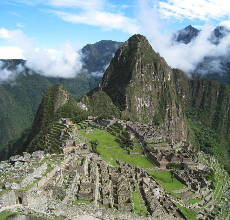 Machu Picchu is a 15th century Inca site located in Peru.