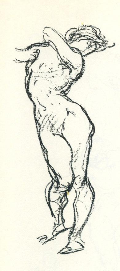 George B. Bridgman, Female Figure Study from Bridgman's Life Drawing (Bridgman Publishers, 1924). Fontana has researched the drawings and drawing practice of painter, draftsman and educator George B. Bridgman.