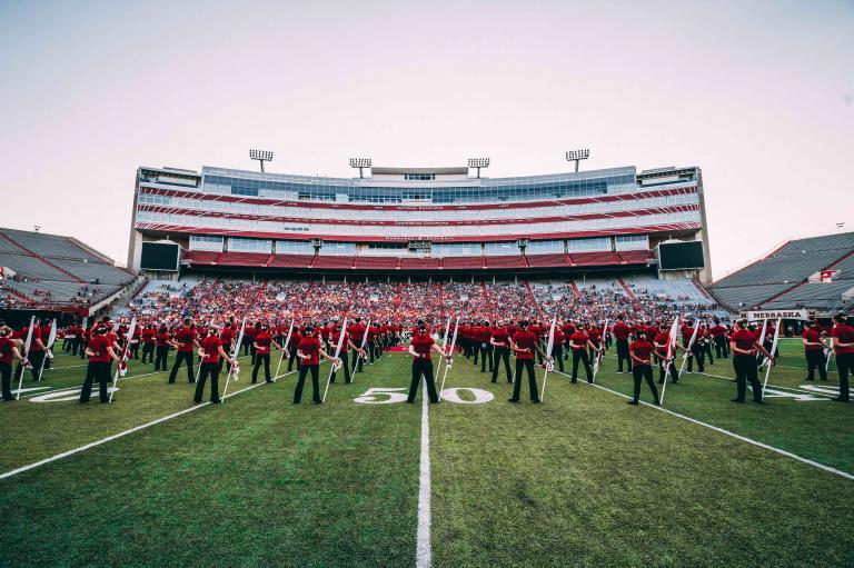 Cornhusker Marching Band at Memorial Stadium
