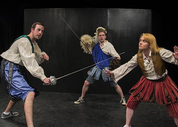 Thomas Boyle, Spenser Stokes and Brenna Hill perform all 37 of Shakespeare's play in 37 minutes.