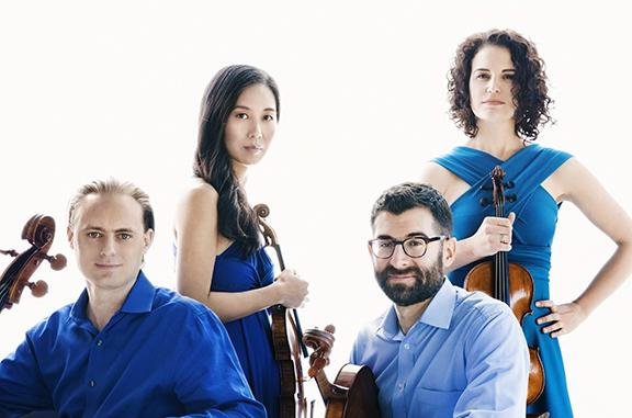 Chiara String Quartet. Photo by Lisa Marie Mazzucco.