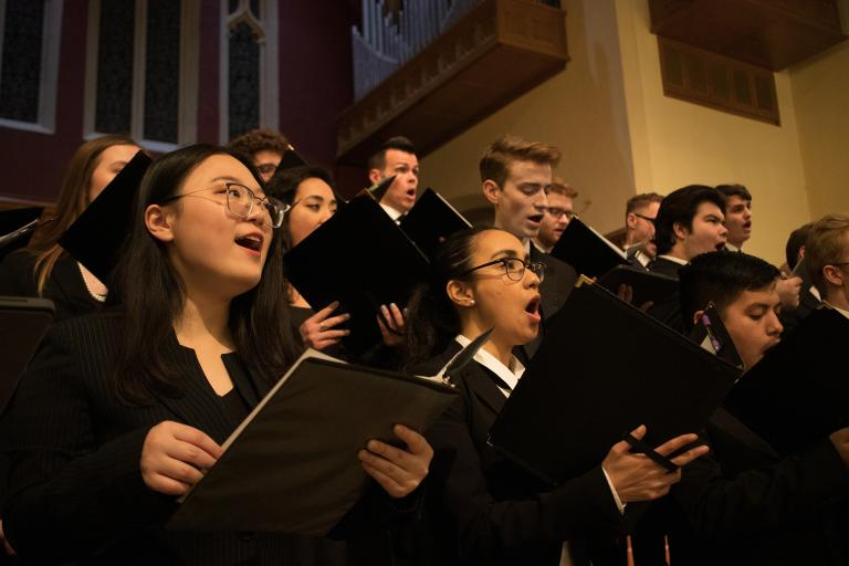 Five choirs in total from the Glenn Korff School of Music will perform at two Evening of Choirs performances Oct. 14 and 26.