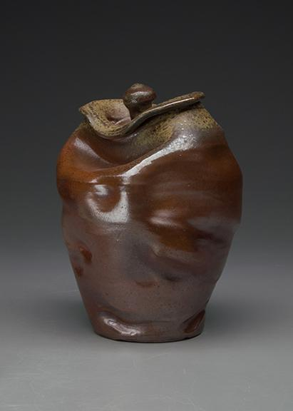 "Kyle Cippera, ""Jar 3,"" soda-fired stoneware with slips and glazes, 9"" x 7"" x 7"", 2016."