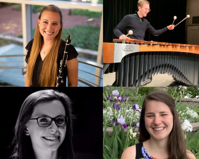 From top left (clockwise): Ashley Cypher, Leon Zajimovic, Jocelyn Meyer, Claudia Holm