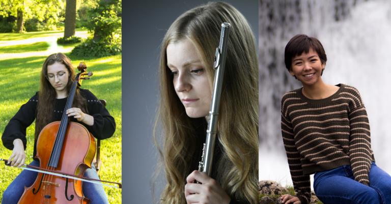 India Enter, cello;  Sanda Mašić, flute;  Mee-Hwa Roche, viola