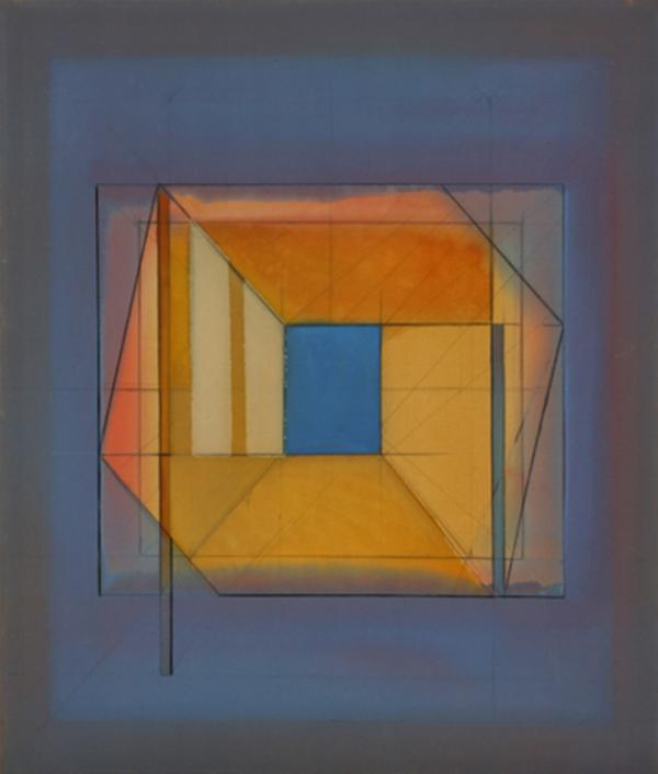 "James Eisentrager, ""Arbee #3,"" polymer on canvas, 60"" x 51"", 1981"