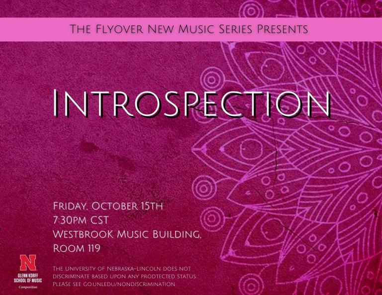 The first Flyover new music concert of the year will be Friday, Oct. 15 at 7:30 p.m. in Westbrook Music Building Rm. 119.