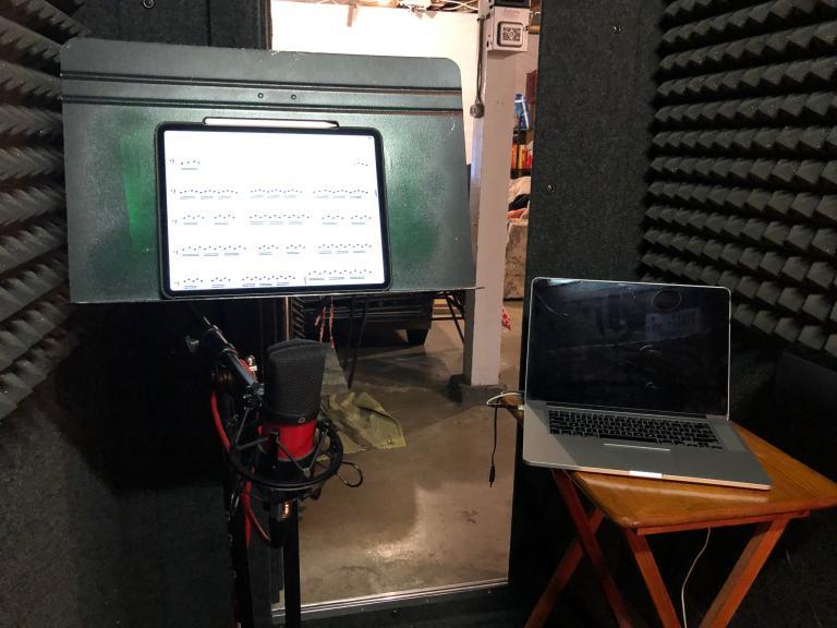 Scott Anderson's studio at home