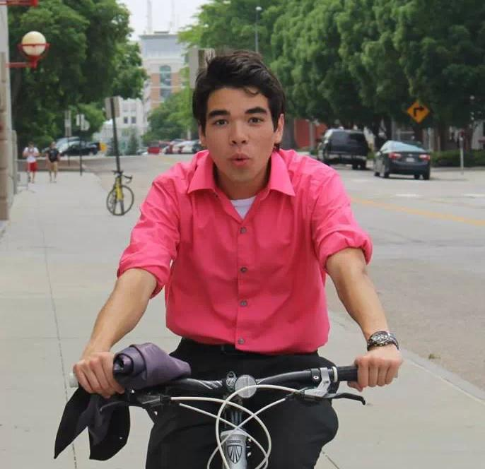 Brian Vuu riding around Lincoln Nebraska