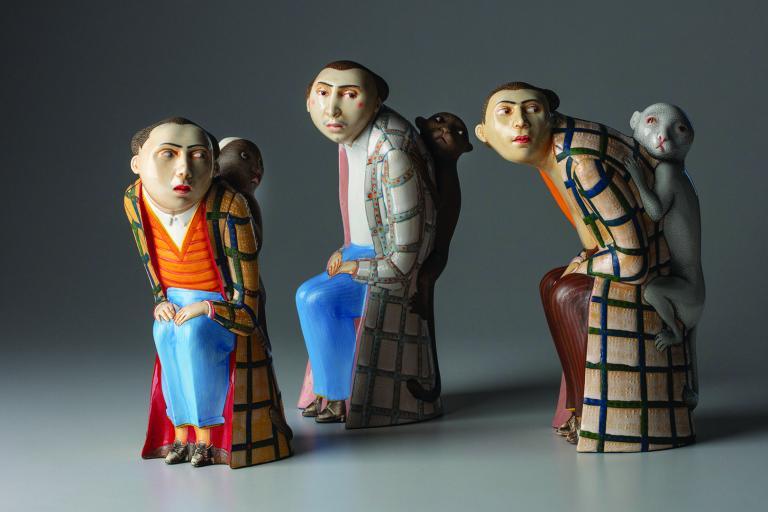 Work by ceramic artist Sergei Isupov.