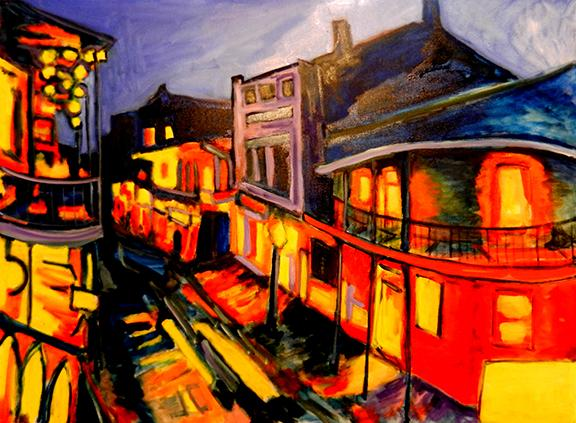 "Jim Jacobi, ""Bourbon Street #7."""