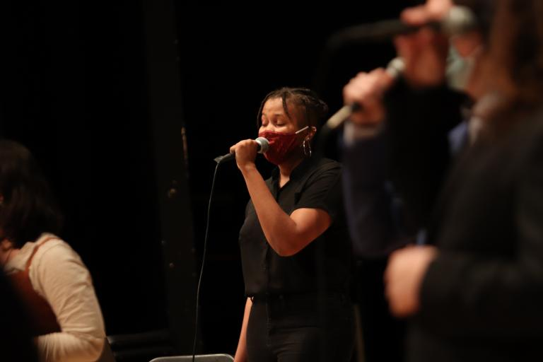 The UNL Jazz Singers and UNL Jazz Orchestra will perform Oct. 5 in Kimball Recital Hall. Photo by Taylor Sullivan.