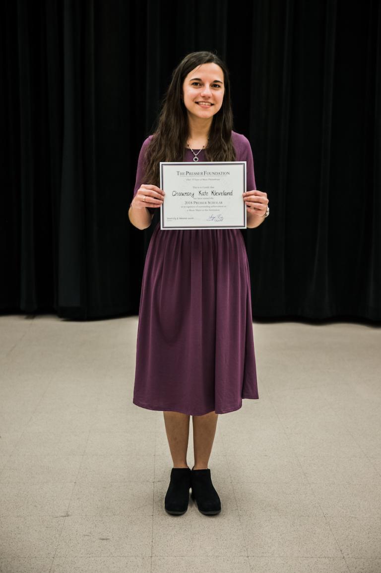 Presser Scholarship Award Winner: Chauncey Kate Kleveland