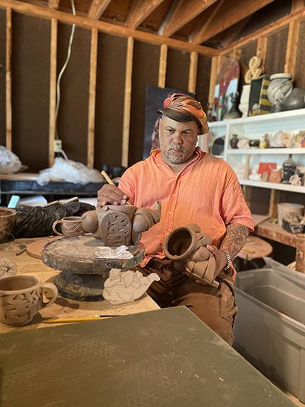 Malcolm Mobutu Smith will present a Hixson-Lied Visiting Artist Lecture on Wednesday, Sept. 23 at 5:30 p.m. on Zoom.
