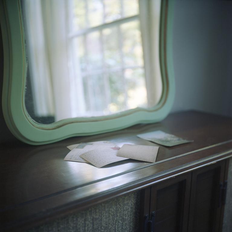 "Melissa Fennell, University of South Carolina, ""Correspondence,"" archival pigment print, 8"" x 8"", 2014."
