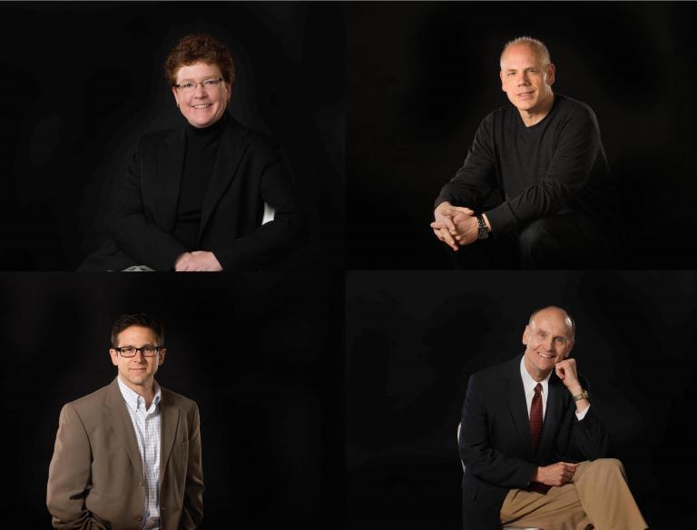 Dr. Carolyn Barber, Dr. William Shomos, Dr. Robert Woody, and Dr. Glenn Nierman