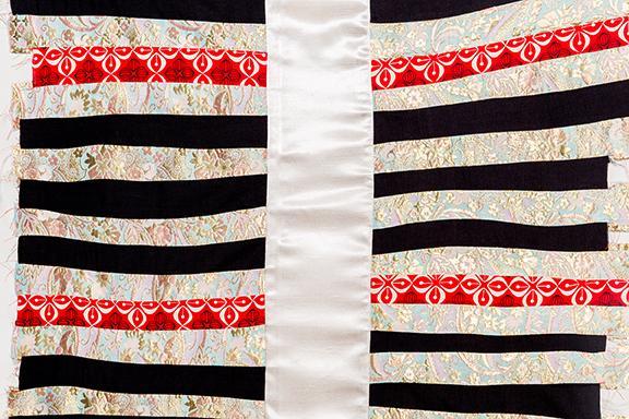 "Rachel Sliva, ""Ribs,"" textiles, 2015."