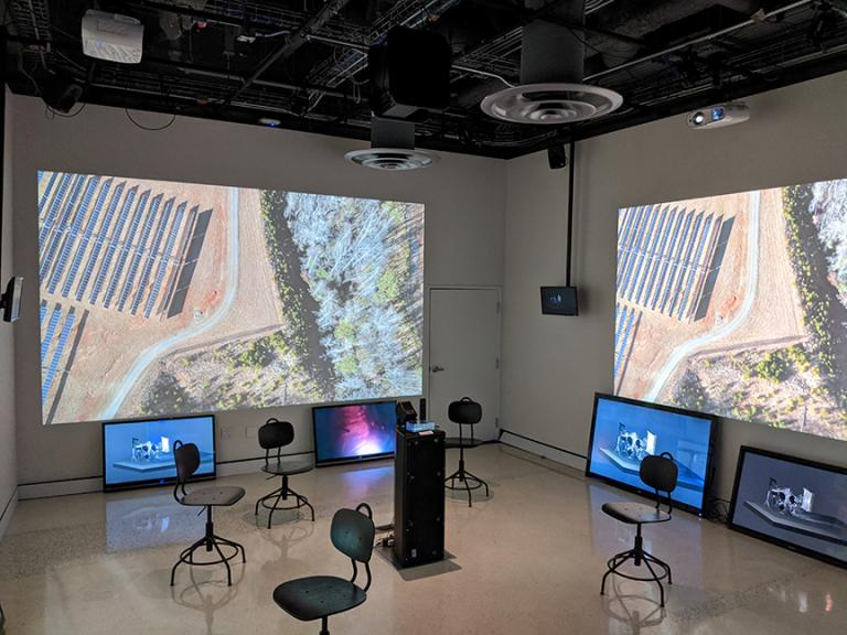 """Assistant Professor of Emerging Media Arts Ash E. Smith has co-curated the exhibition """"STREAMING"""" on display through March 13 at the University of California San Diego's Qualcomm Institute. Courtesy photo."""