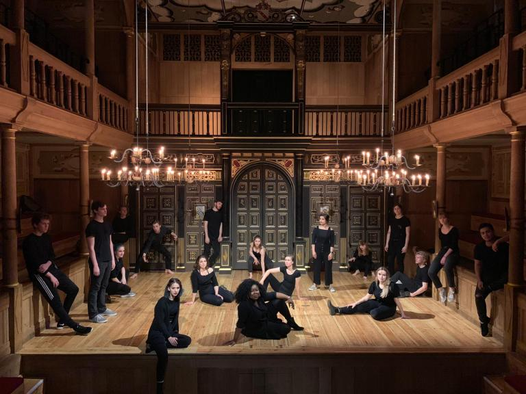 Eighteen students from the Johnny Carson School of Theatre and Film studied at London's Globe Theatre this summer. Photo courtesy of Michael Zavodny.