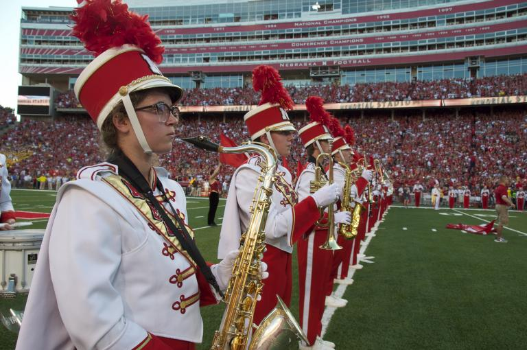Cornhusker Marching Band's Highlight Concert returns to  the Lied Center December 17. Photo by Michael Reinmiller