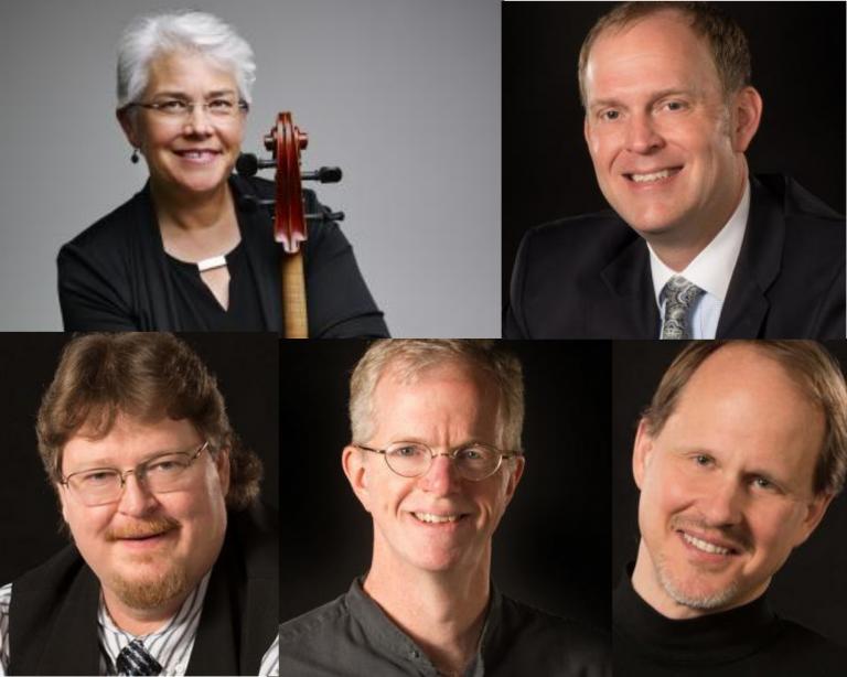 Una Corda: (clockwise from top left): Karen Becker, Mark Clinton, Hans Sturm, Clark Potter, David Neely