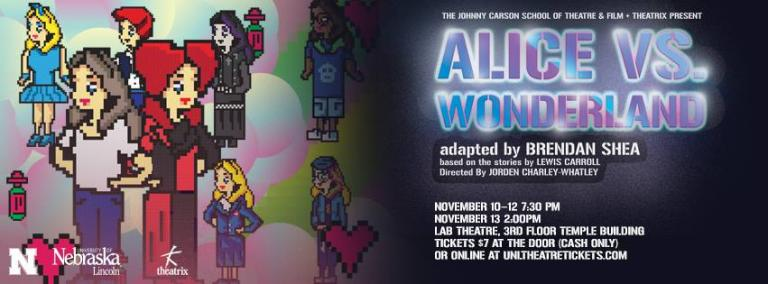"Theatrix presents ""Alice in Wonderland"" Nov. 10-13."