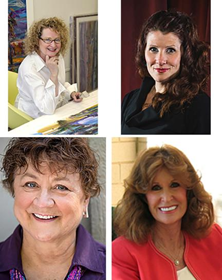 Clockwise from upper left: Susan Puelz, Barbara Zach, Lucy Buntain Comine and Nancy Marcy.