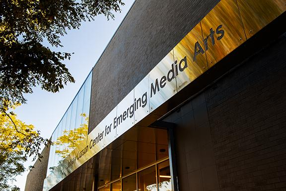 The dedication of the Johnny Carson Center for Emerging Media Arts will take place on Nov. 17 at 1 p.m. Photo by Craig Chandler, University Communication.