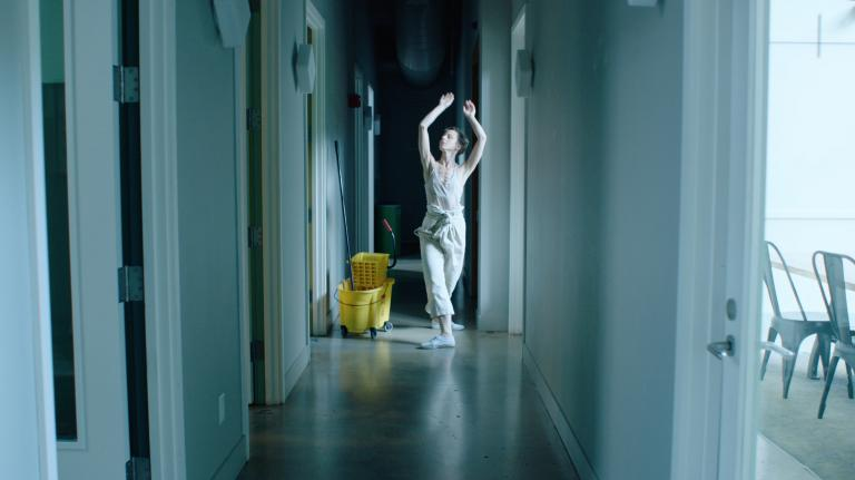 "Dancer and actor Magdalena Kaczmarska stars in ""Cleaner"" by Jennifer and Kevin McCoy. Courtesy photo."
