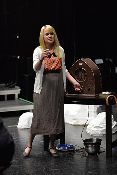 "Brenna Hill rehearses a scene from ""Dancing at Lughnasa,"" which opens Oct. 8. Photo by Michael Reinmiller."