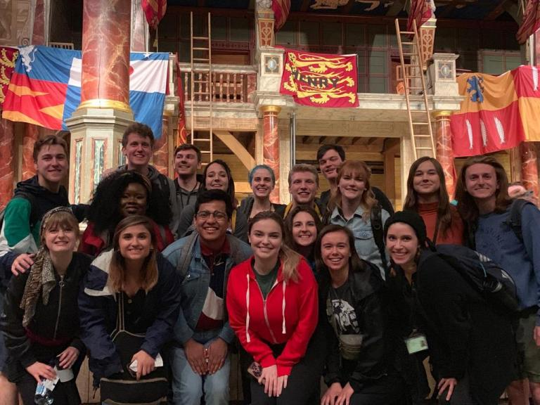 Eighteen students from the Johnny Carson School of Theatre and Film studied at London's Globe Theatre this summer. Courtesy photo.