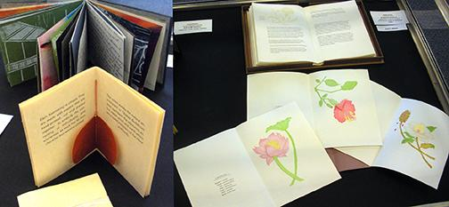 Twenty-one works from students representing 14 colleges and universities is on display at the Heart and Hands Juried Book Art Exhibition for Students.