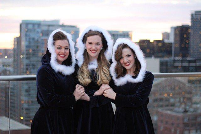 The Lakeshore Dolls, an acapella trio based in Chicago, headline The Holiday Cabaret ensemble.