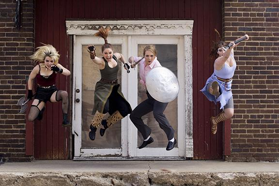 L-R: Lynn Twarowski, Janae Dunn, Lindsey Parodi, Julia Utter. Photo by Bridget Vacha.