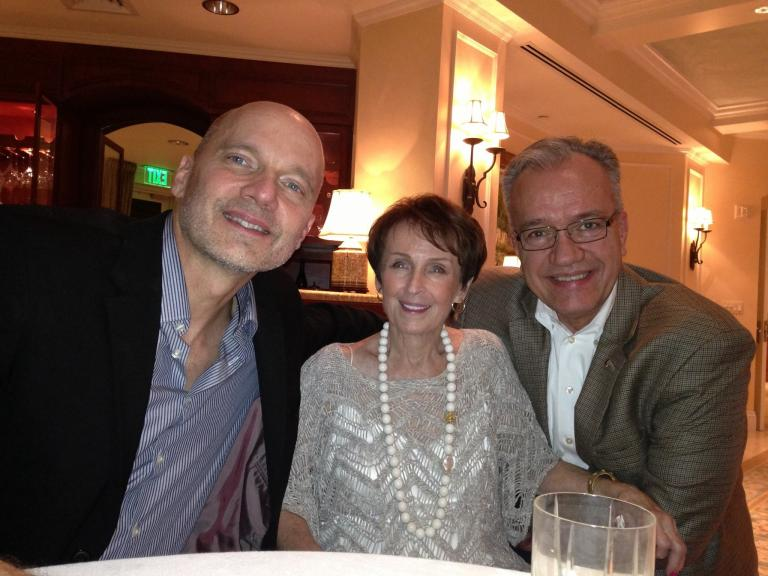 (left to right) Paul Barnes, Marguerite Scribante and John Richmond in Naples, Fla., in early March.