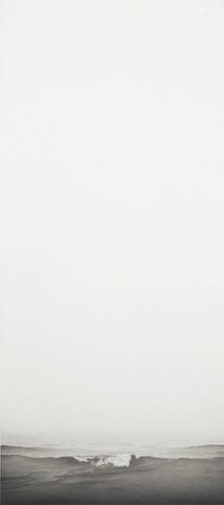 "Francisco Souto, ""Seascape #3 Barcelona, Spain,"" 2011, graphite on paper, 23 x 60 inches."