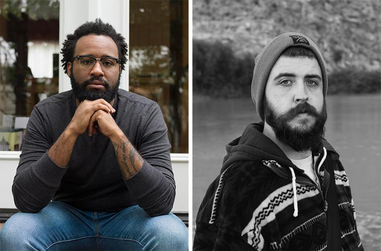Left: Zora Murff. Photo by Jess T. Dugan. Right: John-David Richardson. Photo by Rana Young.