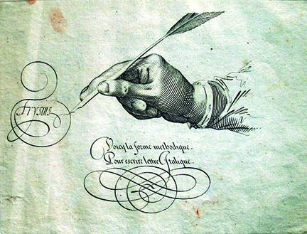 Calligraphy by Jan Van De Velde, a Dutch Golden Age painter and engraver, from Spieghel der schrijfkonste (Mirror of the Art of Writing), 1609.
