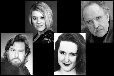 (L-R) Richard Drews, tenor; Talea Schroeder Bloch, soprano; Adrienne Dickson, mezzo-soprano; and Charles Robert Austin, bass