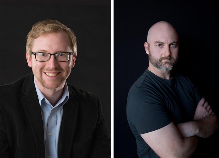 """David von Kampen (left) and Garrett Hope (right) have each been commissioned to write new works for """"A Celebration of Music and Milestone, N150"""" on Feb. 15 at the Lied Center for Performing Arts."""