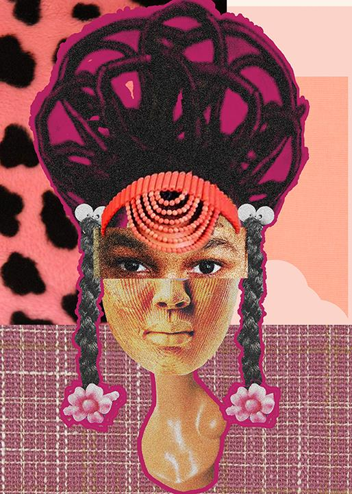 "Christie Asuoha, ""Nneoma,"" digital collage, 2020. From the series ""The Heads of Asuoha."""