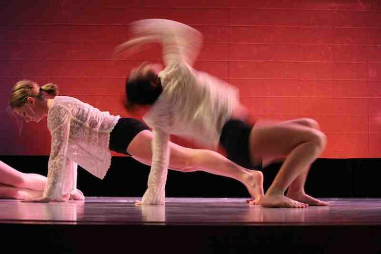 Student Dancing in performance
