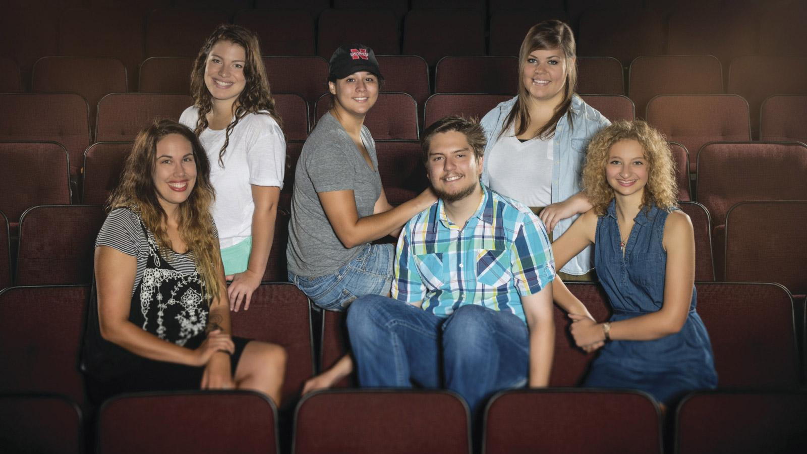 Group shot of Hixson-Lied College of Fine and Performing Arts featured students